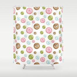 Pattern donuts Shower Curtain