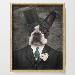 Sir Duncan - Boston Terrier Portrait Serving Tray