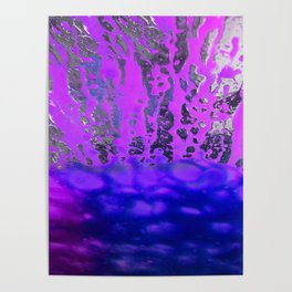 Pink and Blue Spray Pattern Poster