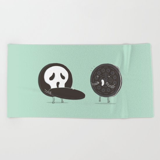 Cookies and Scream Beach Towel