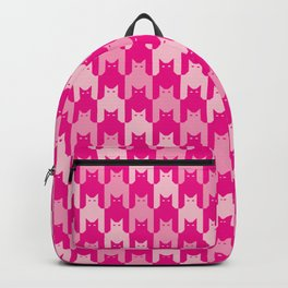 Pink Catstooth Pattern Backpack