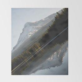 Mountain Slide Throw Blanket