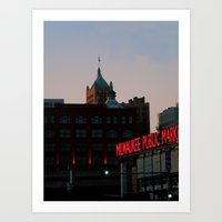 milwaukee Art Prints featuring Milwaukee by Tatum Kevlin