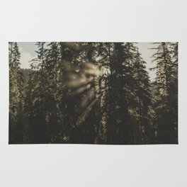 Sunset in the Woods - Nature Photography Rug