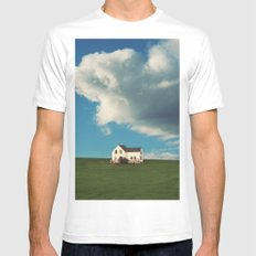 House on the Hill MEDIUM Mens Fitted Tee White