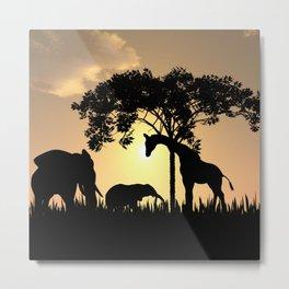 surfari silhouette  Metal Print