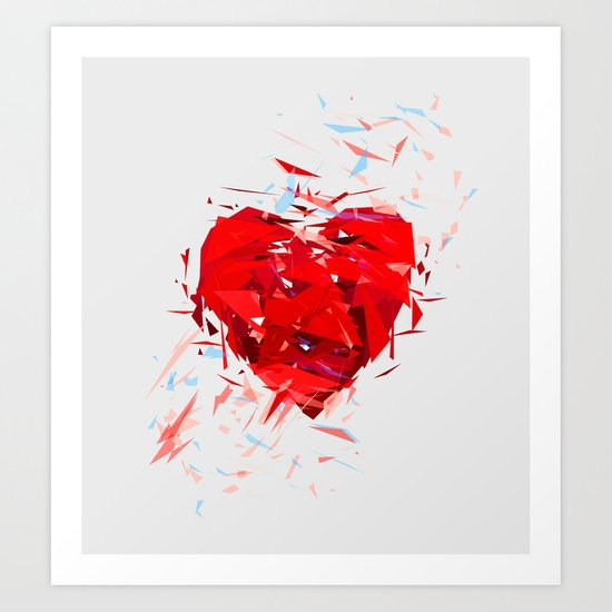 Fragile Heart Art Print