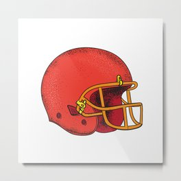 American Football Helmet  Tattoo Metal Print