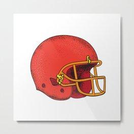 American Football Helmet  Tattoo Metal Print