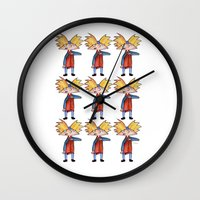 arnold Wall Clocks featuring Hey Arnold! Pattern by laura nye.