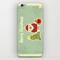 merry christmas iPhone & iPod Skins featuring Merry Christmas by Cs025