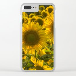 Sunflower Family Clear iPhone Case