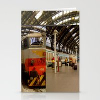 milan Stationery Cards featuring milan glitch by Martin Summers