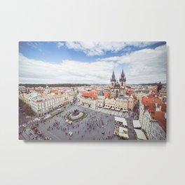 Old Town Square in Prague Metal Print