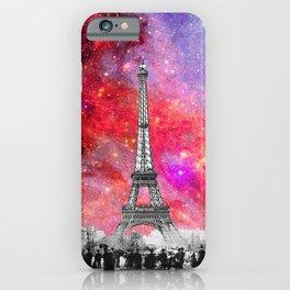 NEBULA VINTAGE PARIS iPhone Case