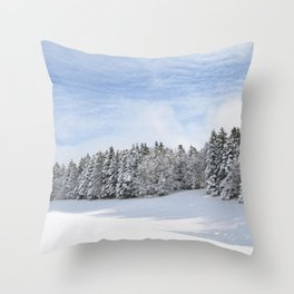 Charteuse Mountain2 Throw Pillow