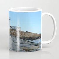 lighthouse Mugs featuring LIGHTHOUSE by OSSUMphotos