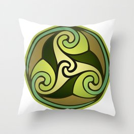 Earthly Emblem Throw Pillow