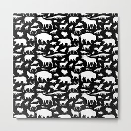 North American Fauna Metal Print