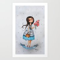 hello beautiful Art Prints featuring hello beautiful by elsbeth eksteen