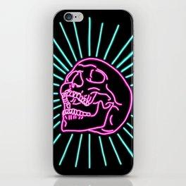 Pink Laughing Skull iPhone Skin
