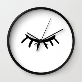 Closed Eye Beauty Wall Clock
