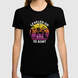 Leveled Up To Aunt Gamer Auntie T-shirt