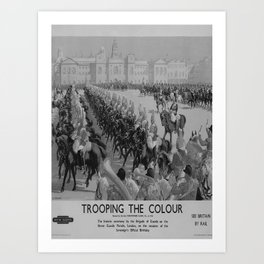 retro classic Trooping the Colour poster Art Print
