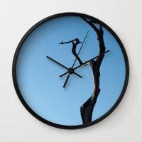 dancing Wall Clocks featuring Dancing by Moiz Merchant