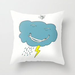 Ivan the angry cloud Throw Pillow