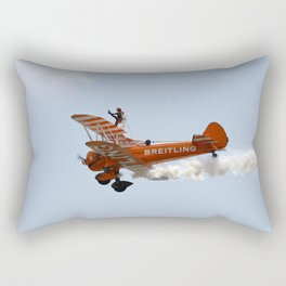 Biplane Wing Walker Rectangular Pillow