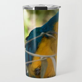 Parrots couple in the tree tops Travel Mug