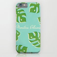 Monstera Aqua iPhone 6s Slim Case