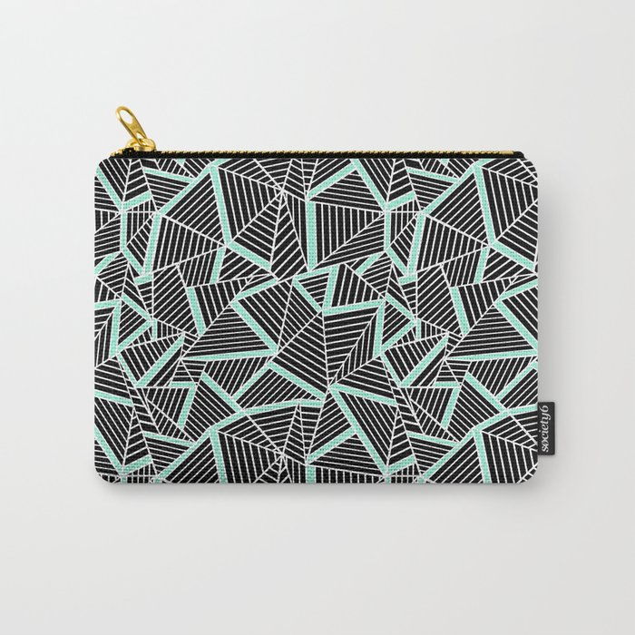 Ab 2 Repeat Mint Carry-All Pouch