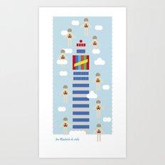 Madrid to heaven Art Print