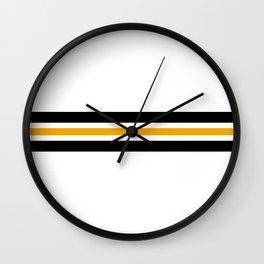 Retro Striped Akabeko Wall Clock