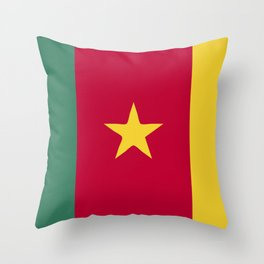 Cameroon flag emblem Throw Pillow