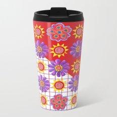 Flowers of the Sun Metal Travel Mug