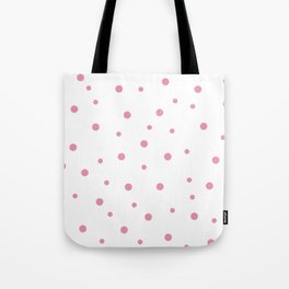 Seamless Pink Polka Dots Pattern Tote Bag