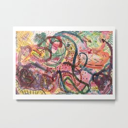 Tropical Jungle Inspired Abstract Metal Print