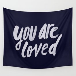 You Are Loved x Navy Wall Tapestry