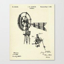 Windmill-1889 Canvas Print