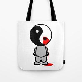 Yin Yang Heart Tote Bag