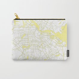 Amsterdam White on Yellow Map Carry-All Pouch