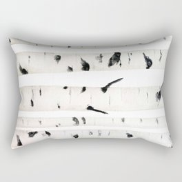 birch  watercolor Rectangular Pillow