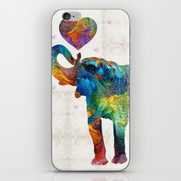 Colorful Elephant Art - Elovephant - By Sharon Cummings iPhone Skin