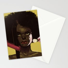 Black Woman. Don't try to change me. Stationery Cards