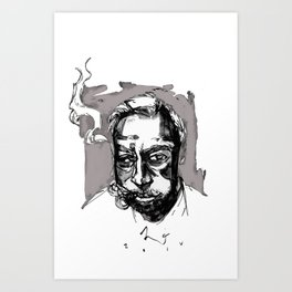 the cigarman Art Print
