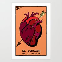 The heart of the Mission Art Print