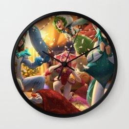 Pajama Guardia Miss Fortune Ezreal Soraka Lux Lulu Splash Art Wallpaper Background Official Wall Clock
